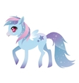 Colorful pony with wings vector image vector image