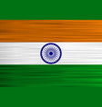 concept indian flag saffron white green with vector image vector image