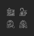corporate structure chalk white icons set vector image vector image