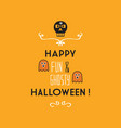 cute happy fun and ghosty halloween card vector image vector image
