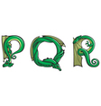 dragons Alphabet pqr vector image vector image
