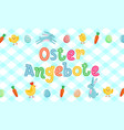 easter sale german cute banner with colored vector image vector image