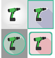 electric repair tools flat icons 07 vector image vector image