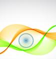elegant indian flag design vector image
