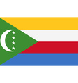 Flag of Comoros vector image vector image