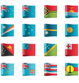 flags - oceania vector image