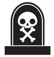 graveyard skull vector image vector image