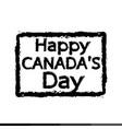 happy canada day design vector image