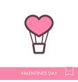 heart air balloon thin line icon vector image vector image
