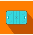 Ice hockey rink flat icon vector image vector image