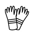 industry gloves isolated icon vector image vector image