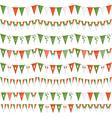 irish party bunting vector image vector image