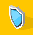 isometric shield icon vector image vector image