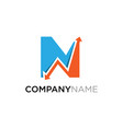 letter n business finance logo design template vector image vector image