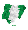 Map of Nigeria vector image vector image