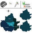 map of suwon south korea with districts vector image vector image