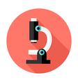 Microscope Flat Circle Icon vector image