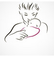 Mother with a sleeping baby vector image