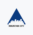 mountain city logo vector image