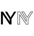 ny new york year logo 2021 two merging vector image