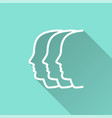 people - icon for graphic and web design vector image vector image