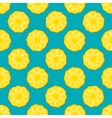 pineapple seamless pattern blue background vector image