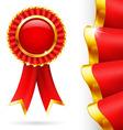 Red award ribbon vector image vector image