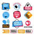 refer a friend referral friends shopping vector image vector image