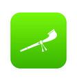retro smoking pipe icon digital green vector image