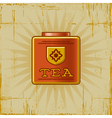 Retro Tea Can vector image vector image