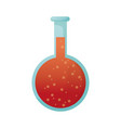 Round chemical flask laboratory glassware vector image