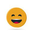 round yellow emoji in flat style vector image