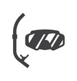 scuba diving mask vector image vector image