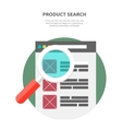 Search Product Website Design Flat vector image vector image