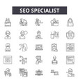 seo specialist line icons signs set vector image vector image