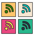 set of unusual look wifi signal vector image vector image