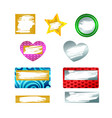 set scratch and win game card icons isolated on vector image