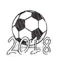 sketch football ball vector image