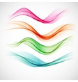 Smoke wave background vector image vector image