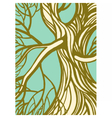 Stylized abstract green tree vector image vector image