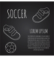Template for advertising brochure with a sneakers vector image vector image