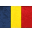 True proportions Romania flag with texture vector image vector image