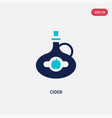 two color cider icon from food and restaurant vector image