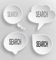 Search White flat buttons on gray background vector image