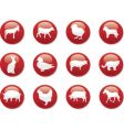 farm animals buttons vector image