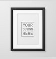 3d realistic a4 black wooden simple modern vector image vector image
