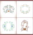 abstract floral ornament se vector image vector image