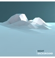 Abstract low poly ice mountain background vector image