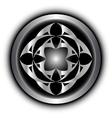 abstract metal figure vector image vector image
