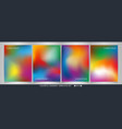 abstract of colorful gradient template set vector image vector image